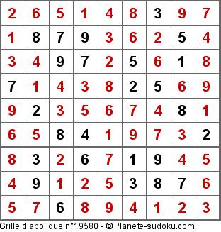Plan te sudoku tournoi officiel 154687 de planete sudoku sur une grille diabolique - Grille de sudoku diabolique ...